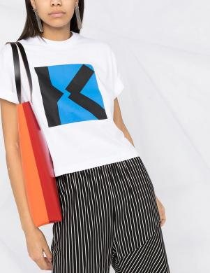 KENZO sieviešu balts krekls ar īsām piedurknēm