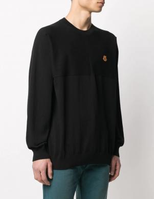 KENZO vīriešu melns kokvilnas džemperis
