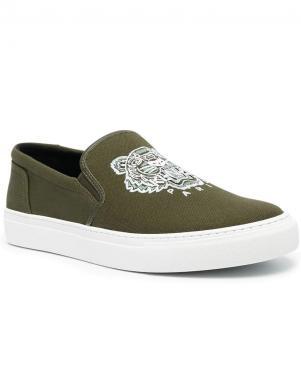 KENZO vīriešu tumši zaļi tekstila ikdienas apavi K-SKATE