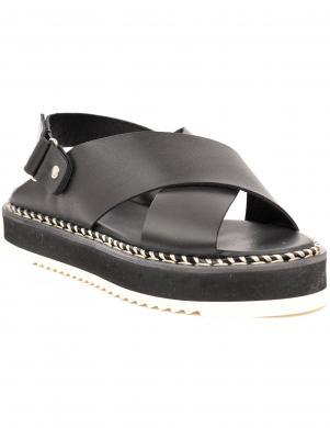 AGL sieviešu melnas sandales MARTA