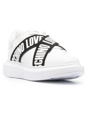 LOVE MOSCHINO sieviešu balti ikdienas apavi