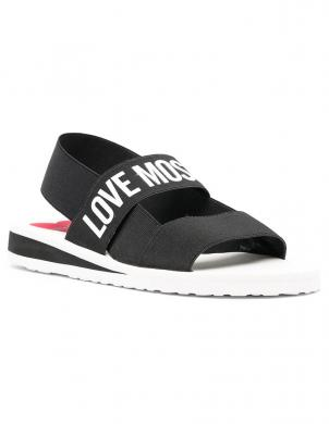 LOVE MOSCHINO sieviešu melnas sandales