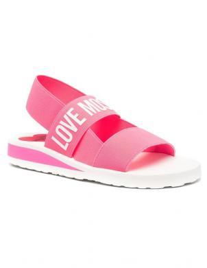 LOVE MOSCHINO sieviešu rozā sandales