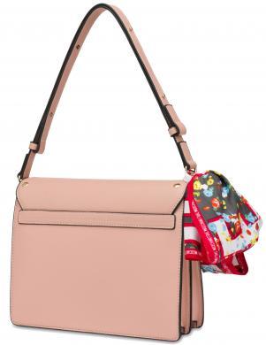 LOVE MOSCHINO sieviešu krēmīga soma ar šalli