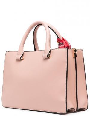 LOVE MOSCHINO sieviešu gaiši rozā soma ar šalli un pievienojamu rokturi
