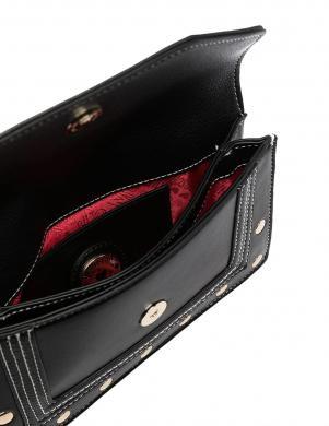 LOVE MOSCHINO sieviešu melna, pagarināta soma pār plecu