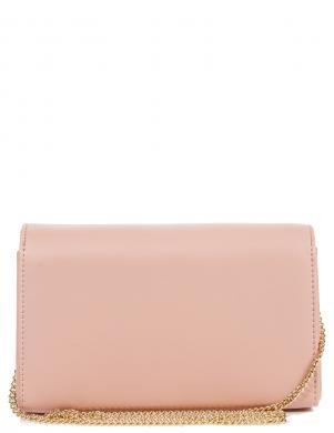 LOVE MOSCHINO sieviešu gaiši rozā soma pār plecu ar pērlītēm