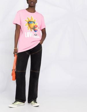 LOVE MOSCHINO sieviešu rozā krekls ar sauli
