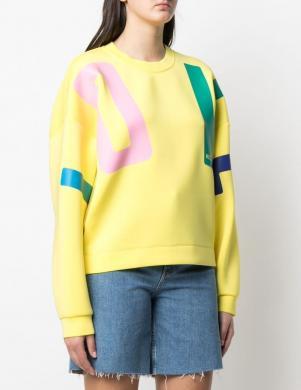 LOVE MOSCHINO sieviešu dzeltens džemperis ar uzrakstu LOVE