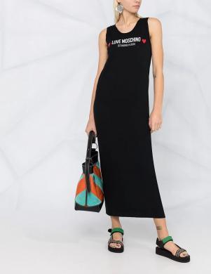 LOVE MOSCHINO melna gara kleita bez piedurknēm