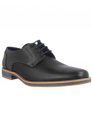 LLOYD vīriešu melni ādas klasiski apavi LAREDO