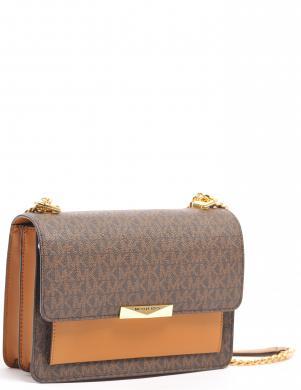 MICHAEL KORS sieviešu brūna soma pār plecu JADE