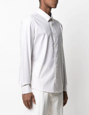 MICHAEL KORS vīriešu balts krekls ar garām piedurknēm