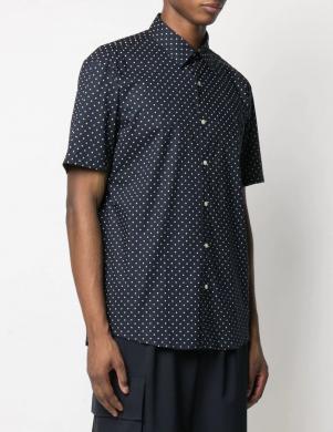 MICHAEL KORS vīriešu tumši zils ar punktiem krekls ar īsām piedurknēm
