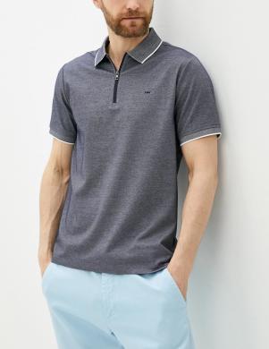 MICHAEL KORS vīriešu pelēks Polo tipa krekls ar uzrakstu