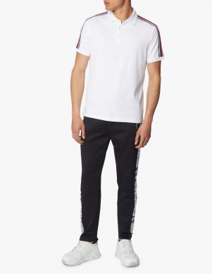 MICHAEL KORS vīriešu balts Polo tipa krekls ar svītrām