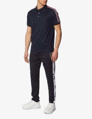 MICHAEL KORS vīriešu tumši zils Polo tipa krekls ar svītrām