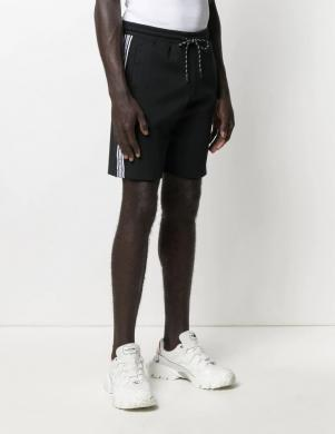 MICHAEL KORS vīriešu melni sporta stila šorti
