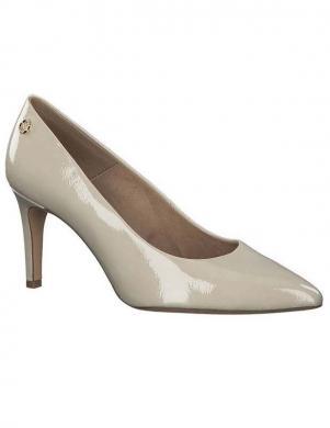S.OLIVER sieviešu krēmīgas krāsas augstpapēžu apavi
