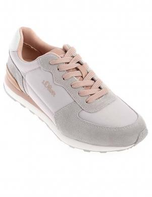 S.OLIVER sieviešu rozā pelēki ikdienas apavi