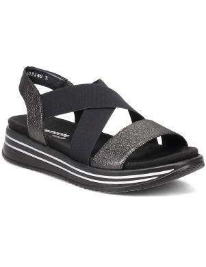 REMONTE sieviešu melnas sandales