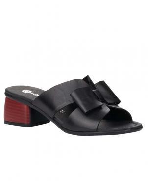 RIEKER sieviešu melnas sandales