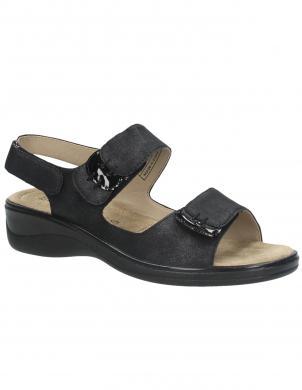 LAURA BERG sieviešu melnas sandales