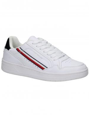 TOM TAILOR sieviešu balti ikdienas apavi