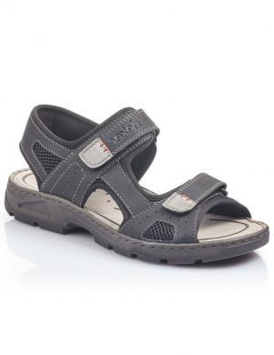 RIEKER vīriešu melnas sandales