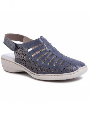 RIEKER sieviešu zilas ar aizdari sandales