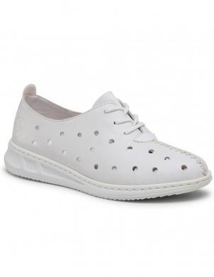 RIEKER sieviešu balti ādas ikdienas apavi