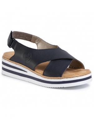 RIEKER sieviešu tumši zilas sandales
