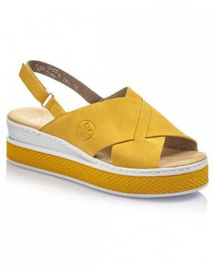 RIEKER sieviešu dzeltenas sandales