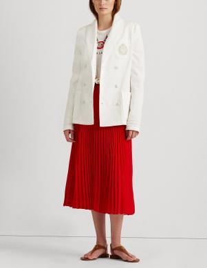 LAUREN RALPH LAUREN sieviešu balta kokvilnas jaka