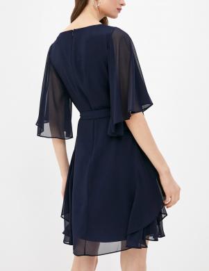 LAUREN RALPH LAUREN tumši zila vairāku slāņu kleita