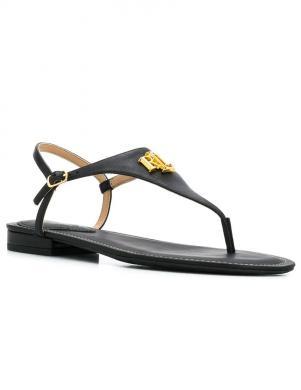 LAUREN RALPH LAUREN sieviešu melnas sandales pār pirkstu