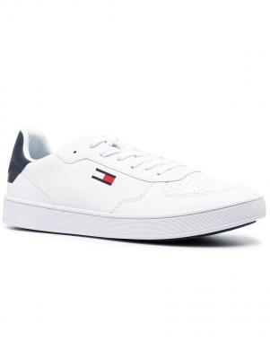 TOMMY JEANS vīriešu balti ikdienas apavi TOMMY JEANS ESSENTIAL CUPSOLE