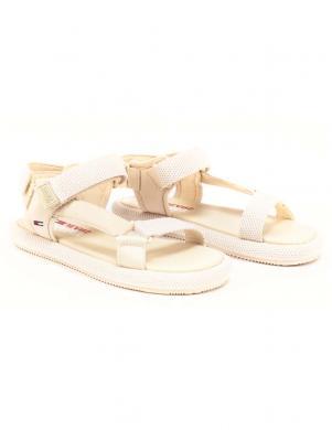 TOMMY JEANS sieviešu krēmīgas krāsas sandales TOMMY JEANS SPORTY SANDAL