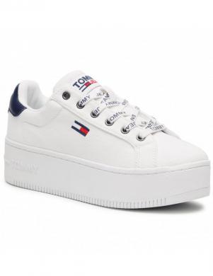TOMMY JEANS sieviešu balti ikdienas apavi ICONIC ESSENTIAL FLATFORM
