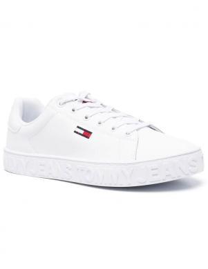 TOMMY JEANS sieviešu balti ikdienas apavi COOL TOMMY JEANS SNEAKER