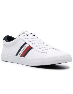 TOMMY HILFIGER vīriešu balti ikdienas apavi ESSENTIAL STRIPES DETAIL SNEAKER