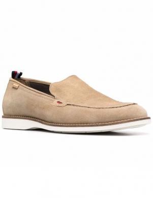 TOMMY HILFIGER vīriešu smilšu krāsas klasiski apavi CASUAL SPRING SUEDE LOAFER