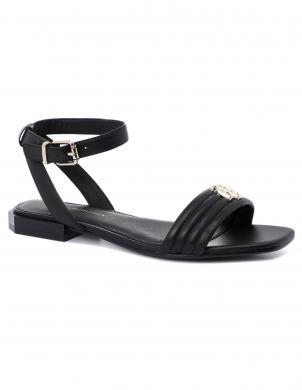 TOMMY HILFIGER sieviešu melnas sandales TOMMY PADDED FLAT SANDAL