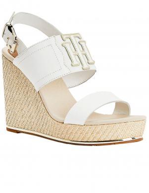 TOMMY HILFIGER sieviešu baltas sandales TH ELASTIC HIGH WEDGE SANDAL