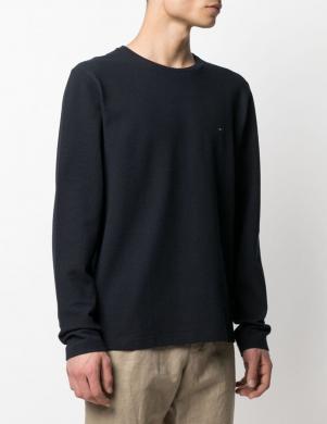 TOMMY HILFIGER vīriešu tumši zils kokvilnas džemperis