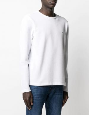 TOMMY HILFIGER vīriešu balts kokvilnas džemperis