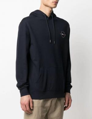 TOMMY HILFIGER vīriešu tumši zils džemperis ar kapuci