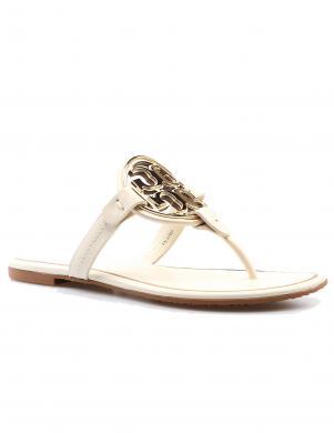 TORY BURCH sieviešu baltas čības - sandales pār pirkstu MILLER