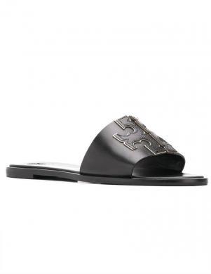 TORY BURCH sieviešu melnas čības - sandales INES