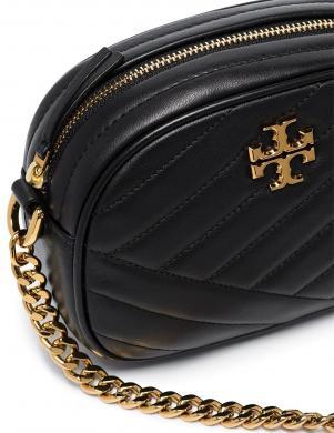 TORY BURCH sieviešu melna maza ādas soma pār plecu KIRA